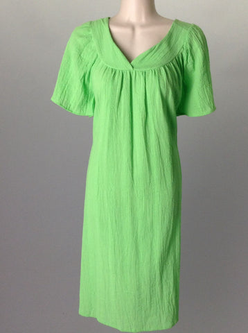 Green Bright-Vibrant Casual Traditional Dress, Size: Medium