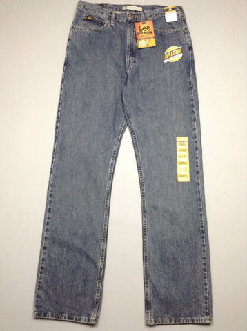 Blue Plain Medium Boot Cut Jeans, Size: 36/36 R