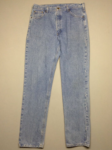 Blue Plain Light Regular Jeans, Size: 38/36 R