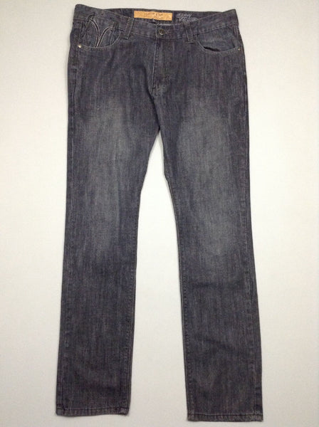 Black Plain Grey/Black Skinny Jeans, Size: 38/32 R