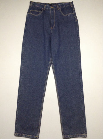 Blue Plain Dark Regular Jeans, Size: 36/36 R