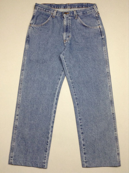 Blue Plain Medium Regular Jeans, Size: 32.0