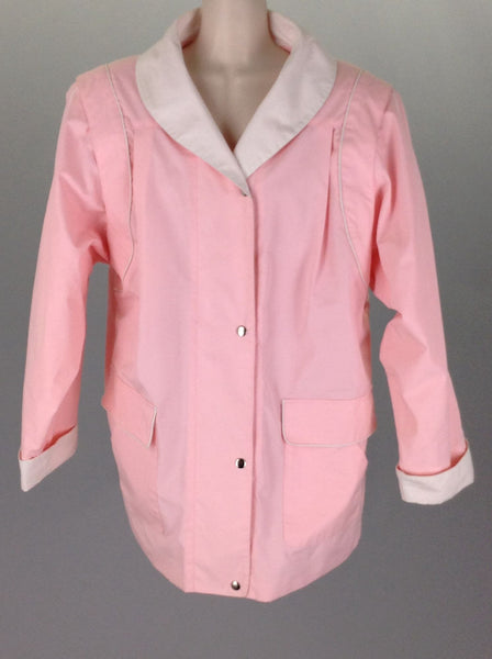 Pink Plain Traditional Coat, Size: X-Large
