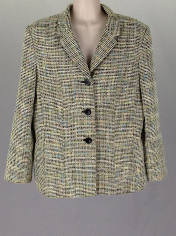 Multicolor Plaid Traditional Coat, Size: 14 P
