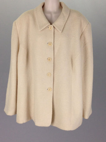 White Plain Traditional Coat, Size: 24 R