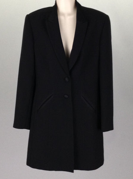 Black Plain Traditional Coat, Size: 4 R