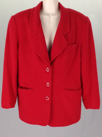 Red Plain Traditional Coat, Size: Medium