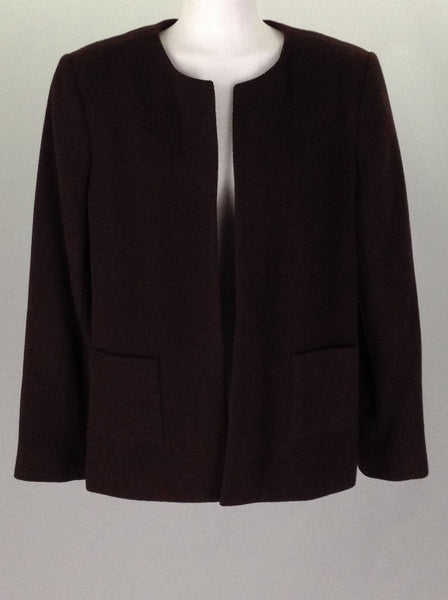 Brown Plain Traditional Coat, Size: 10 R