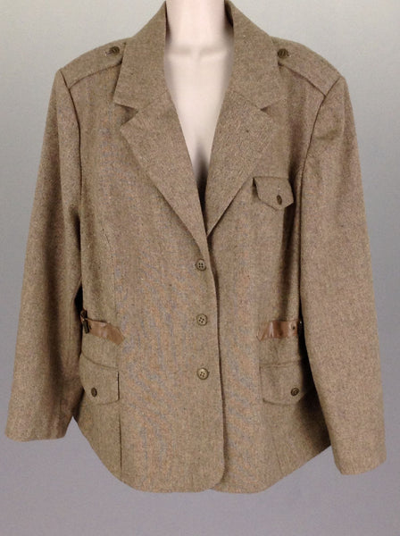Brown Plain Traditional Coat, Size: 20 R
