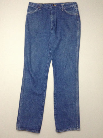Blue Plain Medium Regular Jeans, Size: 36/34 R