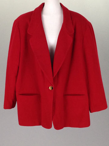 Red Plain Traditional Coat, Size: X-Large