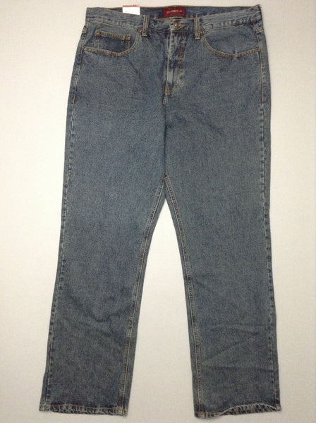 Blue Plain Medium Regular Jeans, Size: 38/34 R