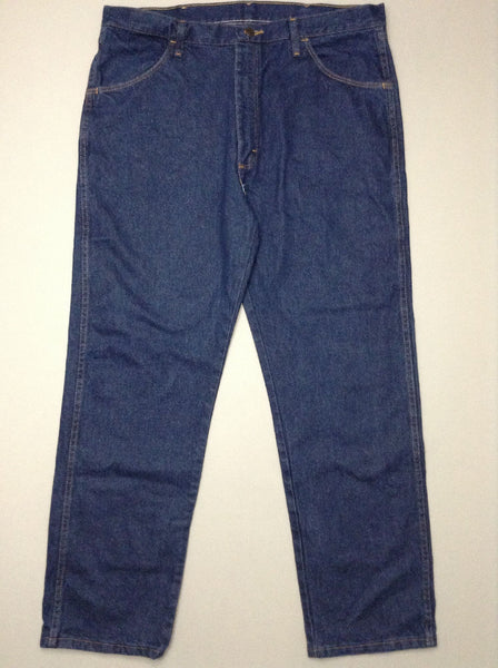 Blue Plain Dark Regular Jeans, Size: 38/30 R