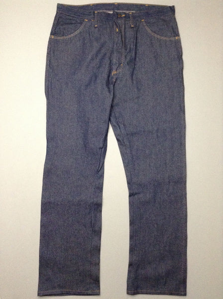 Blue Plain Medium Boot Cut Jeans, Size: 40/32 R