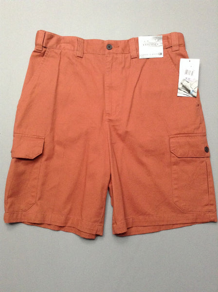 Orange Plain Cargo Shorts, Size: 34.0