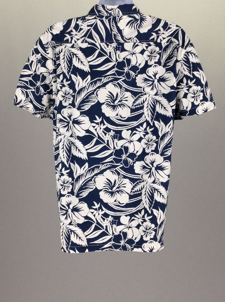 Blue Hawaiian Casual Button Up Shirt, Size: 2X-Large