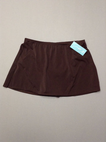 Brown Plain Skirted Bottom Only, Size: Small