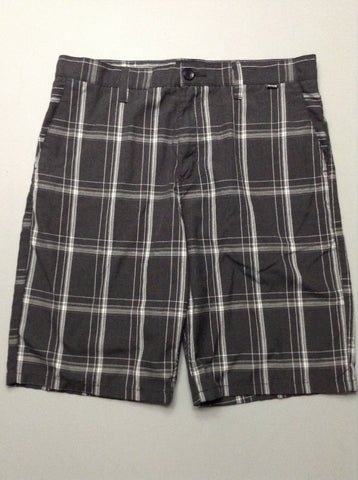 Gray Pattern Casual Shorts, Size: 69.0
