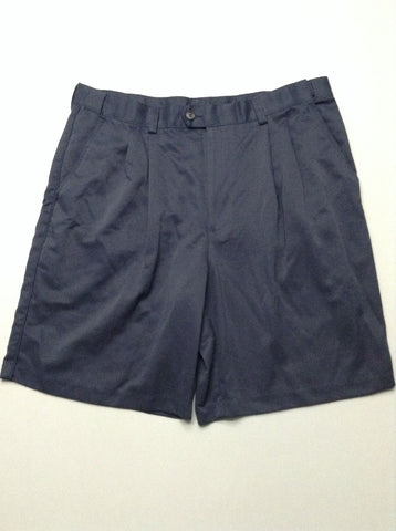 Blue Plain Casual Shorts, Size: 36.0