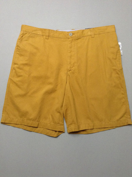 Yellow Plain Casual Shorts, Size: 40.0