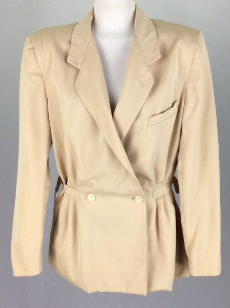 Beige Funky Traditional Coat, Size: Small