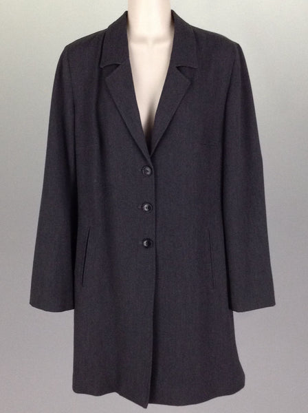 Gray Plain Traditional Coat, Size: 8 R