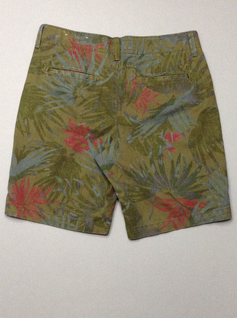 Multicolor Pattern Casual Shorts, Size: 31.0