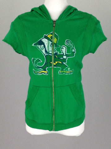 Green Bright-Vibrant Hooded Sweatshirt, Size: Large