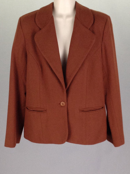 Brown Plain Traditional Coat, Size: 12 R