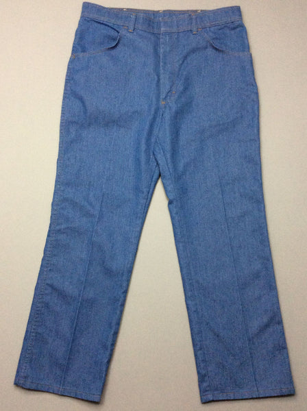 Blue Plain Medium Regular Jeans, Size: 36/29 R