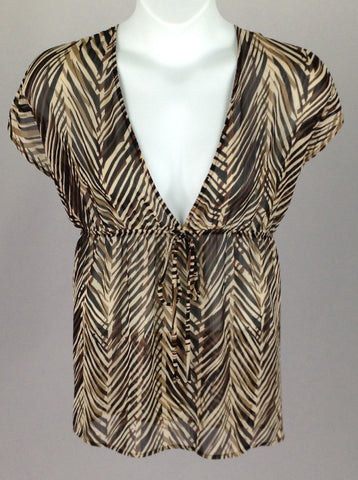 Brown Funky Cover-Up, Size: 2X-Large