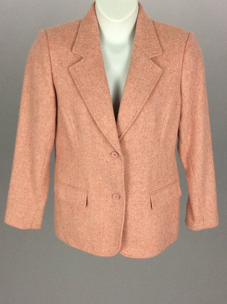 Pink Plain Traditional Coat, Size: 12 R