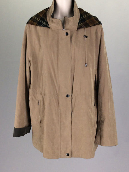 Brown Plain Traditional Coat, Size: Medium