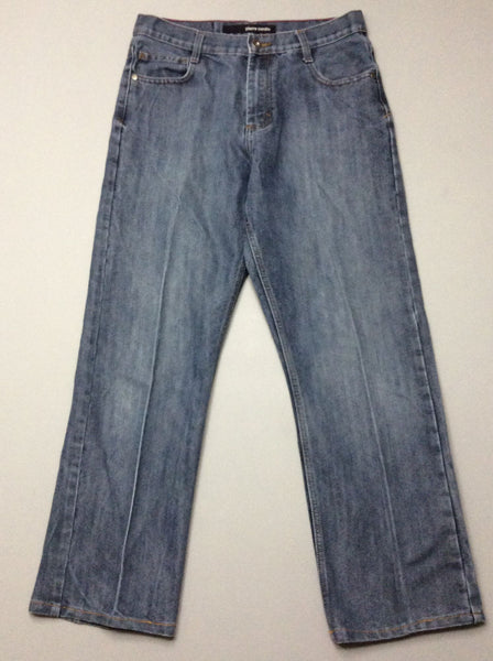 Blue Plain Medium Regular Jeans, Size: 30.0