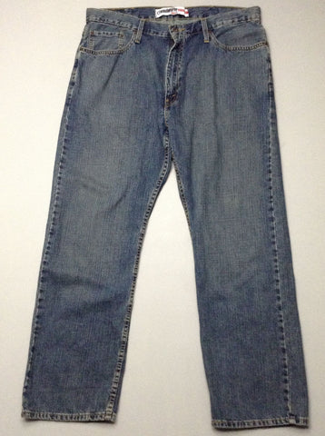 Blue Plain Medium Regular Jeans, Size: 38/30 R