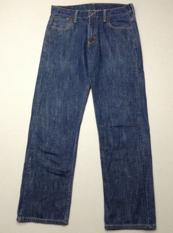 Blue Plain Medium Regular Jeans, Size: 30/32 R