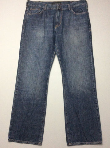 Blue Plain Medium Boot Cut Jeans, Size: 39.0
