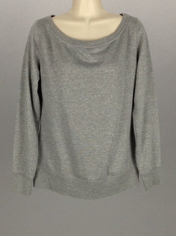 Gray Sparkly Sweatshirt, Size: Small