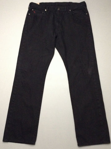 Black Plain Grey/Black Regular Jeans, Size: 40/36 R