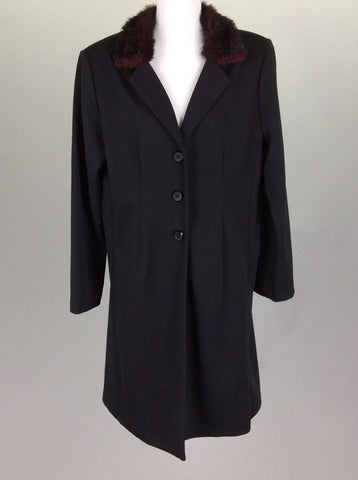 Black Plain Traditional Coat, Size: Medium