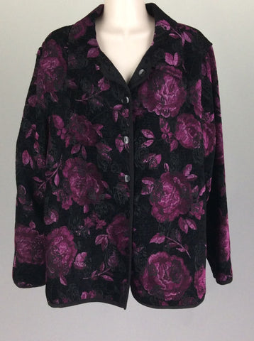 Purple Pattern Traditional Coat, Size: 16 R