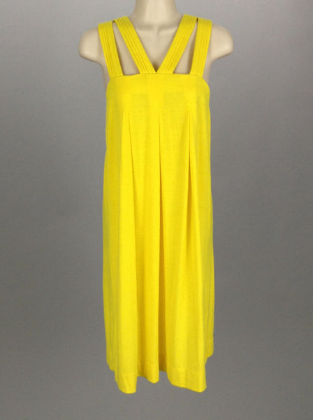 Yellow Bright-Vibrant Casual Traditional Dress, Size: Medium
