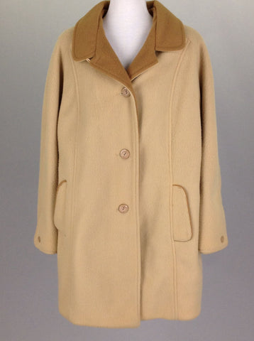 Brown Plain Traditional Coat, Size: Large