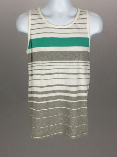 Multicolor Striped Casual Tank Top, Size: Medium