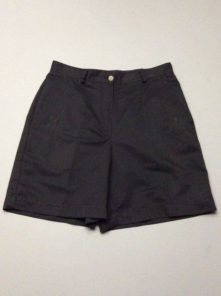 Black Plain Casual Shorts, Size: 8 R
