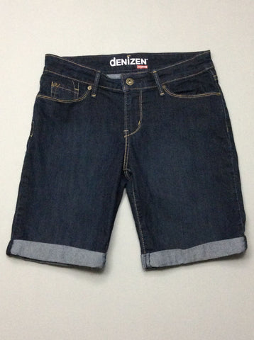 Blue Plain Denim Shorts, Size: 2 R