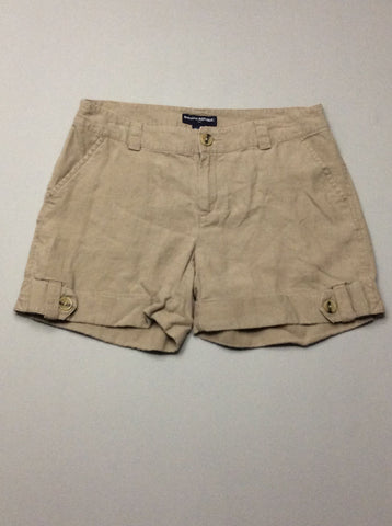 Beige Plain Casual Shorts, Size: 10 R