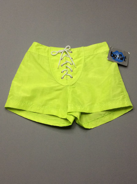 Yellow Plain Casual Shorts, Size: 5 R