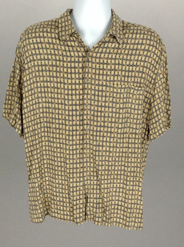 Multicolor Pattern Casual Button Up Shirt, Size: Large