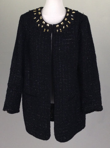 Black Sequins Traditional Coat, Size: 1 R
